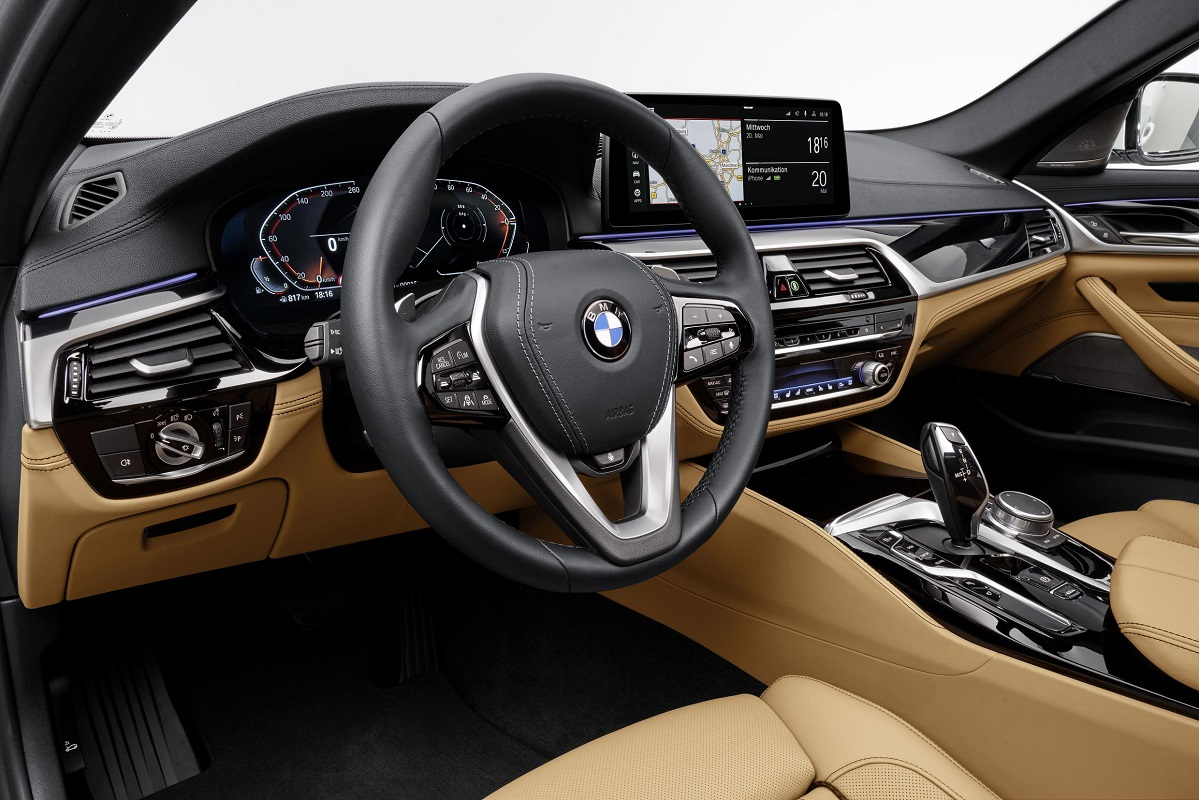 Interior of the new BMW 5 Series