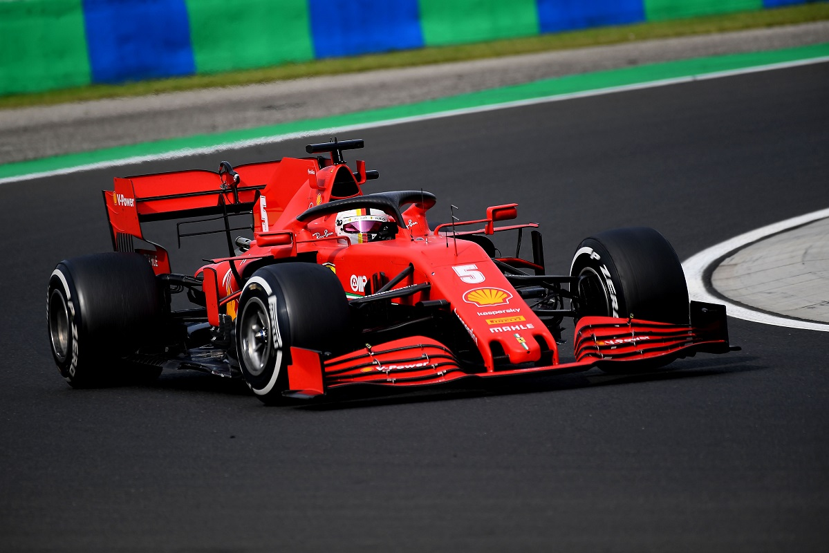 Sebastian Vettel in sixth at the 2020 Hungarian Grand Prix