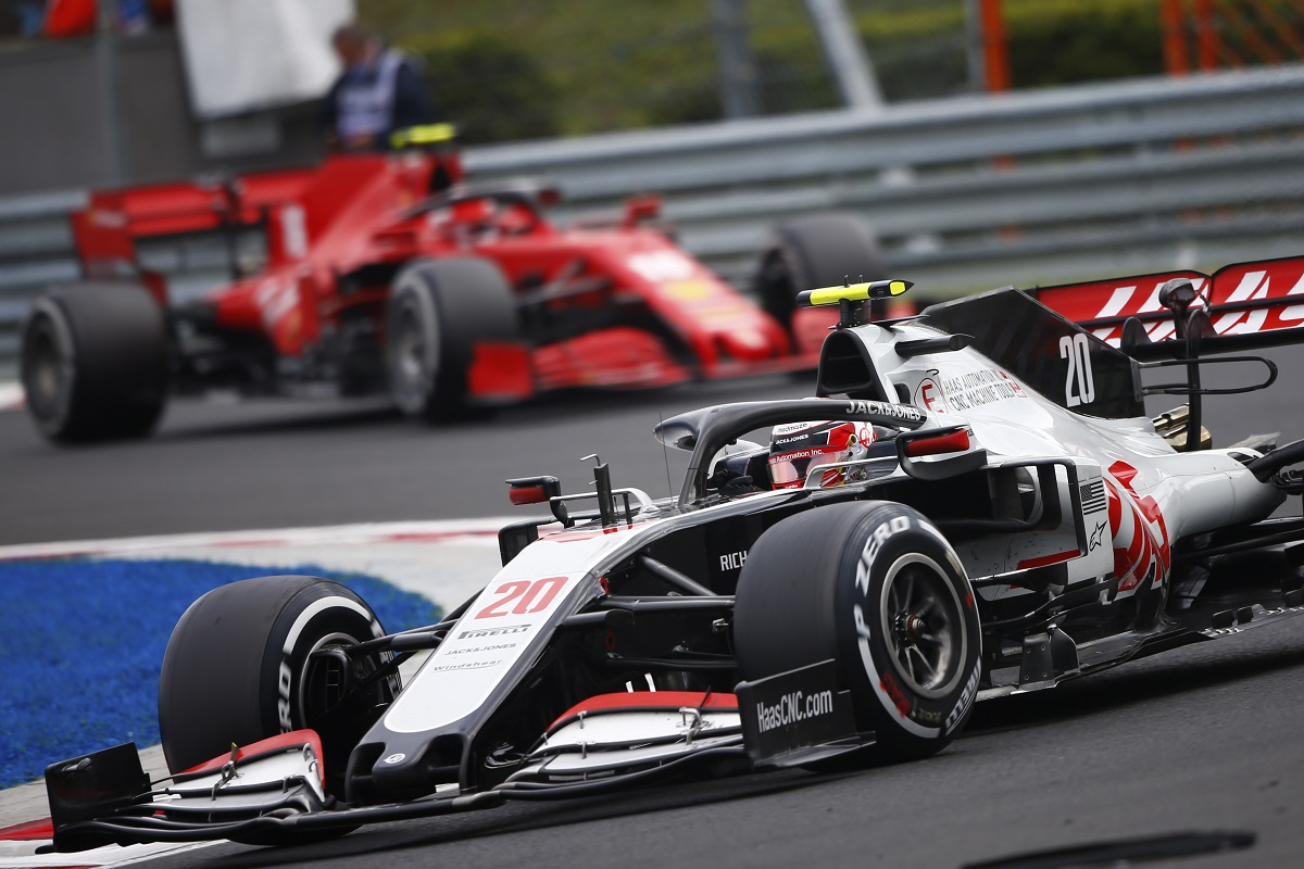 Kevin Magnussen at the 2020 Hungarian Grand Prix