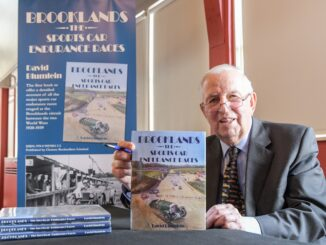 David Blumlein signing Brooklands - The Sports Car Endurance Races