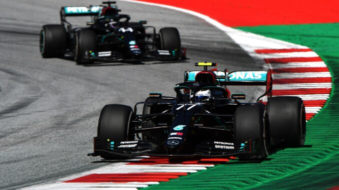 Valtteri Bottas winning the Austria Grand Prix