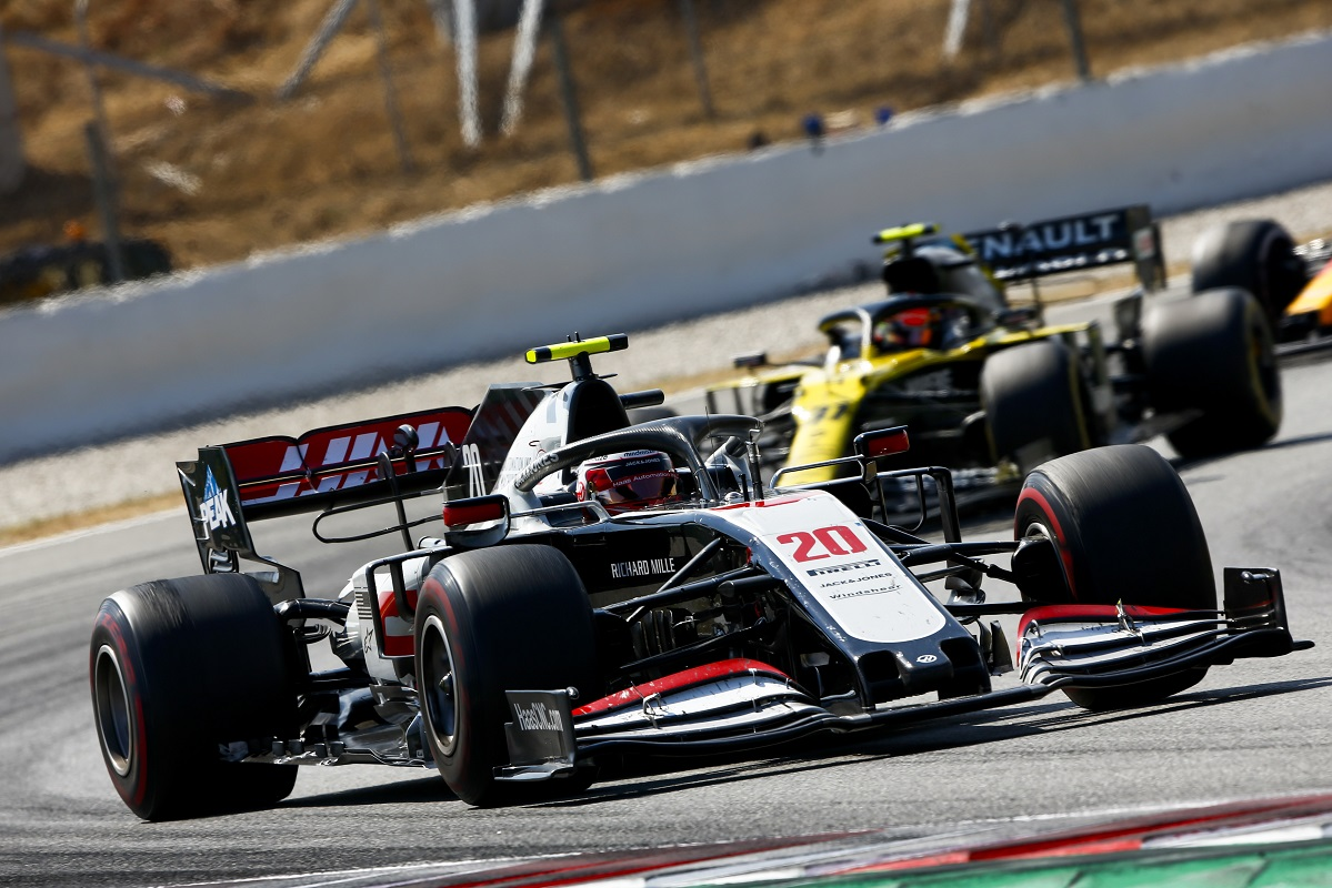 Kevin Magnussen in his Haas at the 2020 Spanish Grand Prix