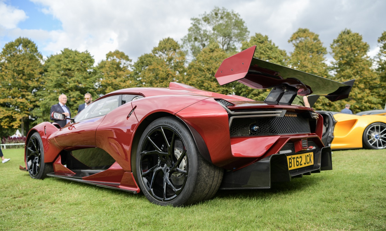 Rear view of Brabham BT62R