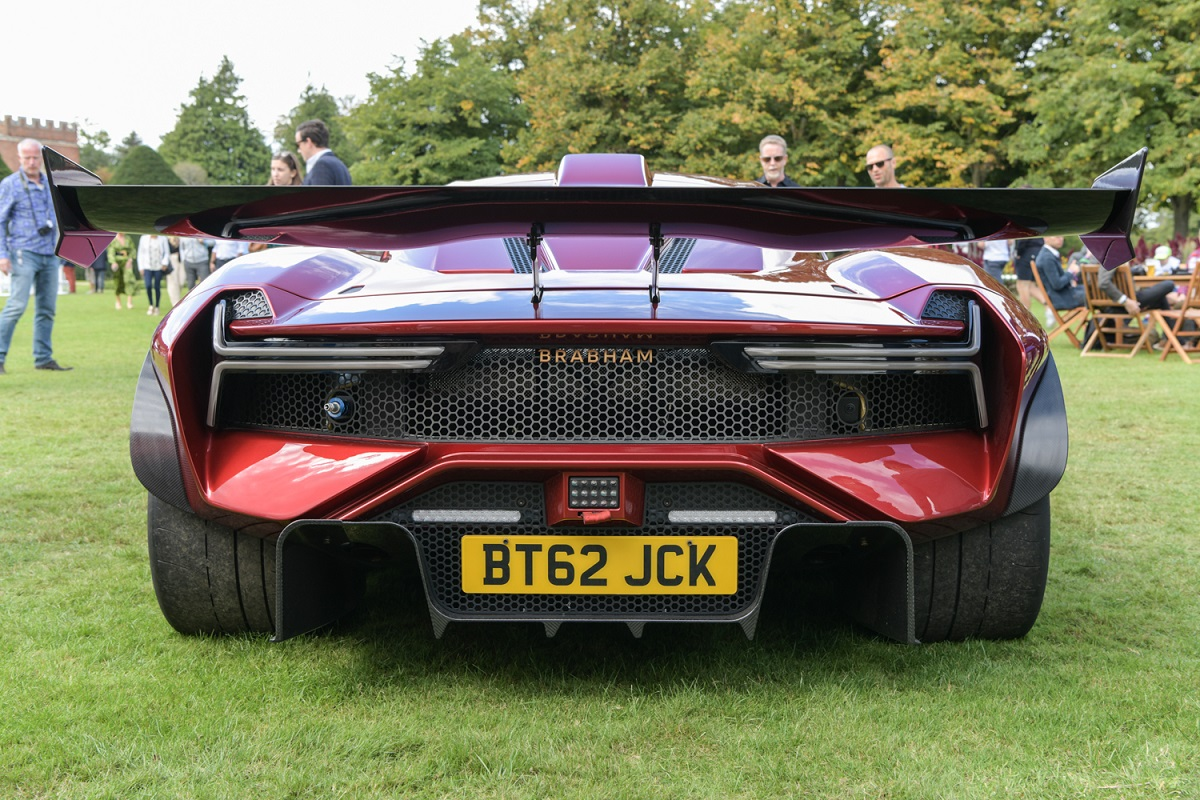 Rear view of the Brabham BT62R