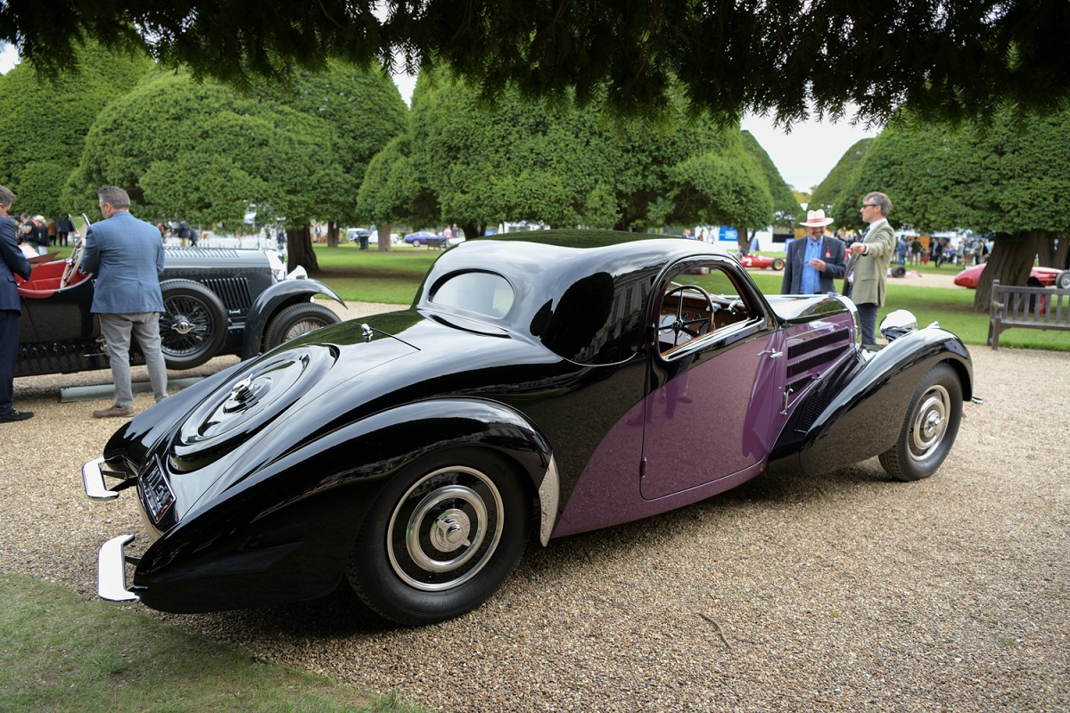 Pretty lines of the Bugatti Type 37 Atalanta Coupe by Gangloff