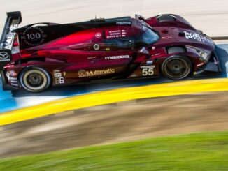 Winning #55 Mazda RT24-P at Sebring 12 Hours