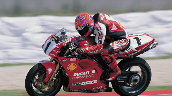 Carl Fogarty in his racing days