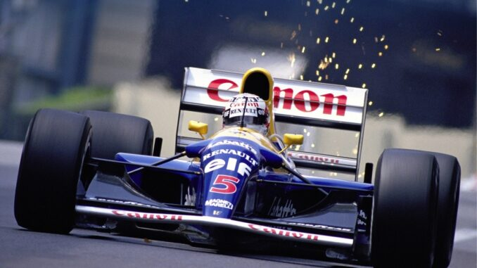 Nigel Mansell in his Williams